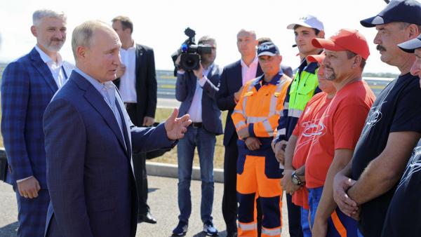 Путин принял участие в открытии трассы «Таврида» в Крыму