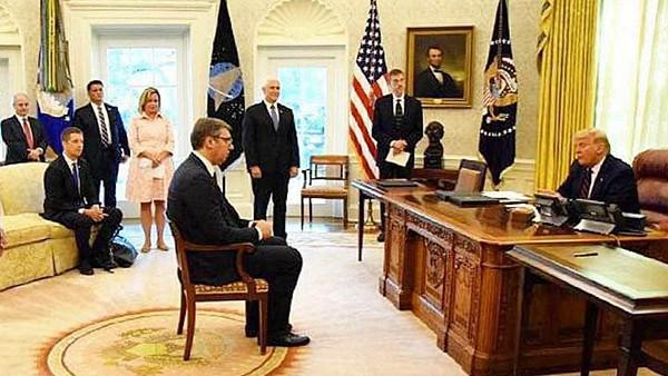 Вучич немог сесть перед Трампом как равный, «это был сигнал Москве»