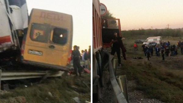 В Дагестане три человека погибли в ДТП со школьным автобусом